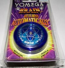 Vintage Clear Blue Yomega Brain High Performance Yo-Yo - Brand New RARE