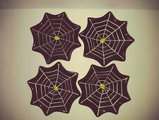 Hallmark Ceramic Black Spider Web Candy bowls Set Of 4  New