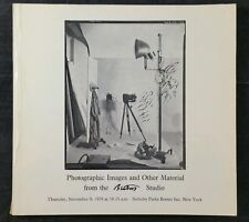 Sotheby Parke Bernet Photographic Images From Burton Studio Catalogue Nov 1978