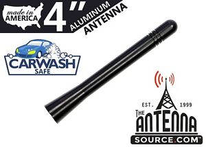 "**SHORT**  4"" BLACK ALUMINUM ANTENNA MAST - FITS: 2002-2005 Chevrolet Avalanche"