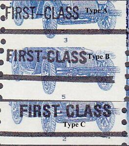 PNC5 17c Auto US #1906a MNH F-VF Overprint Type A, Type B, Type C Lot (3) MNH