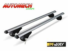 M-WAY EAGLE Lockable Universal Alloy Roof Bars 120cms, For Raised Roof Rails