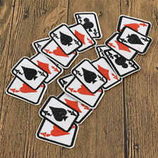 Poker Embroidery Patches Sew on Playing Cards Applique Bikers Gift DIY Hat Jeans
