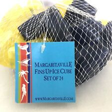 Margaritaville Jimmy Buffet Fins Up Reusable Shark Fins Ice Cube Set of 24