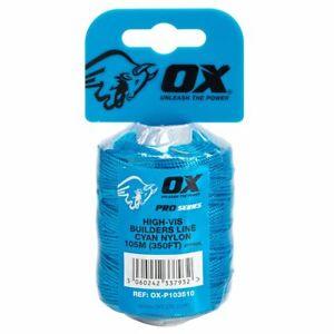 OX P103510 PRO CYAN NYLON BRICKLINE 105M/350 FEET