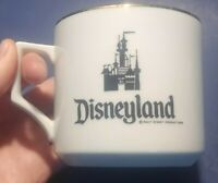 Vintage Disneyland Mug Cup Castle Gold Rim Walt Disney Productions Made in Japan