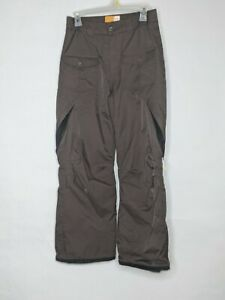 Orage Snow Pants Childrens Size XL 14 Brown Pockets EUC