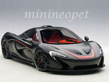 AUTOart 76027 MCLAREN P1 1/18 MODEL CAR MATTE BLACK with RED ACCENTS