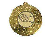 50mm Tennis Medal with Ribbon, Gold, Silver, Bronze (M1586)cl