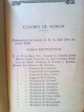LIBRO AÑO 1908 CON DATOS NOBLEZA REALEZA  ALFONSO XIII