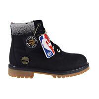 Timberland Roll Top Juniors Boots Boys Kids Brown Leather Fleece 50919 U52