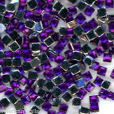 100 Bijoux d'Ongles Strass Nail Art CARRES Violet Amethyste 2 mm