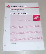 Taller de mano libro mitsubishi eclipse d 30 suplementario sistema eléctrico mapas de carreteras a partir de 1998