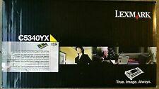 Lexmark ~ Genuine Extra High Yield Yellow Toner Cartridge ~ C5340YX