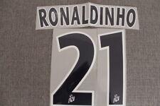 Flocage RONALDINHO n°21 bleu PSG  patch shirt Paris Saint Germain maillot