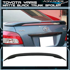 06-13 Toyota Yaris Sedan Matte Black OE Factory Trunk Spoiler LED Brake Light