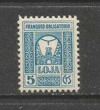 Spain Civil War/Loja (Loxa) 5cts local stamp