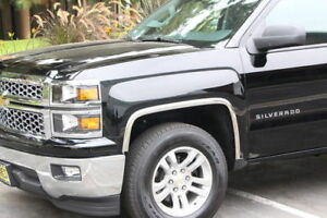 3910 2014-2015 Chevrolet Silverado 1500 POLISHED Stainless Steel Fender Trim