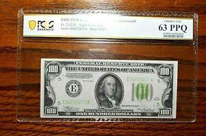 1934 $100 Federal Reserve Note Richmond 💲 Light Green Seal PCGS 63 PPQ
