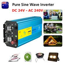 Power Inverter 24V-240V Pure Sine Wave DC to AC 3000W/6000W Car Camping Van  AU