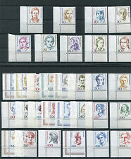 Bund postfrisch 31 Frauen Eckrand alle Ecke 3 BRD 1390-1393,1397,1427-1428,1432-