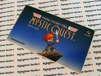 SNES NTSC USA JAP ) FINAL FANTASY MYSTIC QUEST OTTIMO SUPER NINTENDO FAMICOM