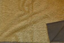 Quality English Mohair with Straight 1.5cm Pile Wheat colour w/Dk Brown Backing.