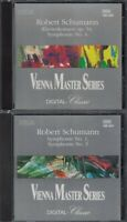 Lot of 2 - Vienna Master Series CDs - Robert Schumann - Symphony Nos. 1 & 3 &  4