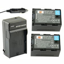 DSTE 2x SSL-JVC50 JVC50 Battery with DC164 Charger for JVC HM600 HM650 GY LS300
