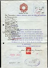 p678 - Portugal Colony MOZAMBIQUE 1945 Stamped Revenue Paper & Stamp on Document