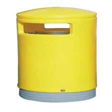 Outdoor Hooded Top Bin 75 Litre Yellow 321774 [SBY10583]