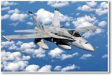Fa18 Fighter Over South China Sea - NEW Military POSTER