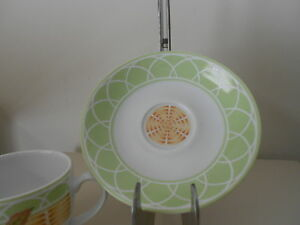 Royal Worcester Evesham Orchard Saucer White Green Basketweave England  New
