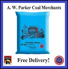 House Coal Doubles British PREMIUM one tonne pre packed 50 x 20kg bags ton