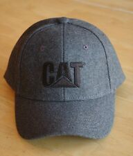 Caterpillar All Gray Felt Hat / Cap with Vintage CAT Logo in Black