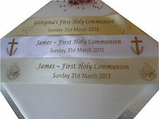 HOLY COMMUNION, BAPTISM or CONFIRMATION Personalised Polyester RIBBON 45mm x 1m