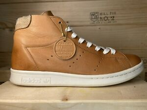 Adidas Stan Smith Mid PC Horween Men's Brown Leather Tan  ART F37615 Size 8
