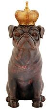 Bulldog with Crown Gift Resin Statue Figurine Home Decor
