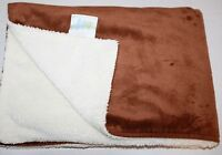 iPlay Chi Chi Baby Blanket Solid Brown Cream Soft Security Plush Lovey Boy Girl