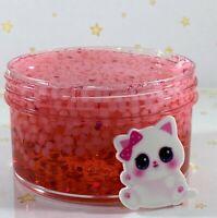 "SCENTED Slushie Slime ""RED RASPURRY SLUSHEE"" Beads Crunchy Glitter Charm 6 8 oz"