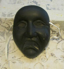 ceramic mardi gras theatrical face masks wall hangings all black face