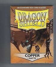 Dragon Shield Matte Copper (100) Shield Sleeves Free Shipping