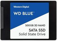 """CHOOSE QTY- NEW WESTERN DIGITAL WD BLUE 500GB 3D NAND 2.5"""" 7mm INTERNAL SSD SATA"""