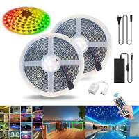 5m-30m RGB Led Streifen Stripe Wasserdicht Mehrfarbig Band Leiste 5050 Lichtband