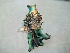 Wizard Figurine Resin 7 3/4 Glass Crystal Mythical Glass Staff Dragons Wizart