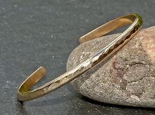 dainty gold filled hammered cuff bracelet