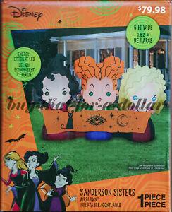 *NEW* Disney Hocus Pocus Sanderson Sisters-5' ft Halloween Inflatable-Airblown