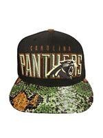 RARE Carolina PANTHERS New Era 9FIFTY snakskin brim Snapback Hat Cap CLEAN!!