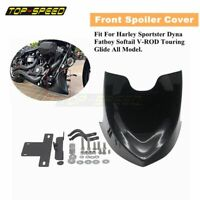 Motorcycle Black Lower Chin Fairing Front Spoiler For Harley Sportster XL Dyna