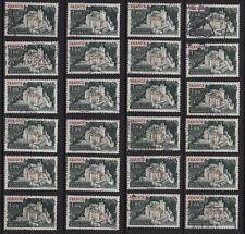 P19* Timbres France Oblitérés x24 (1976) (n°1871 : CHÂTEAU FORT DE BONAGUIL)